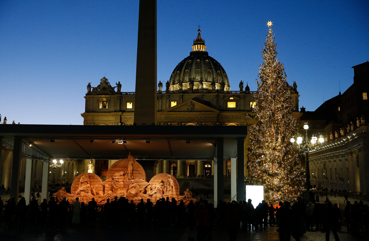 christmas spirit in the air as vatican unveils nativity