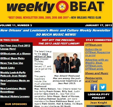 Weekly Beat e-newsletter