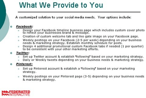 Federated Interactive's Social Media Services