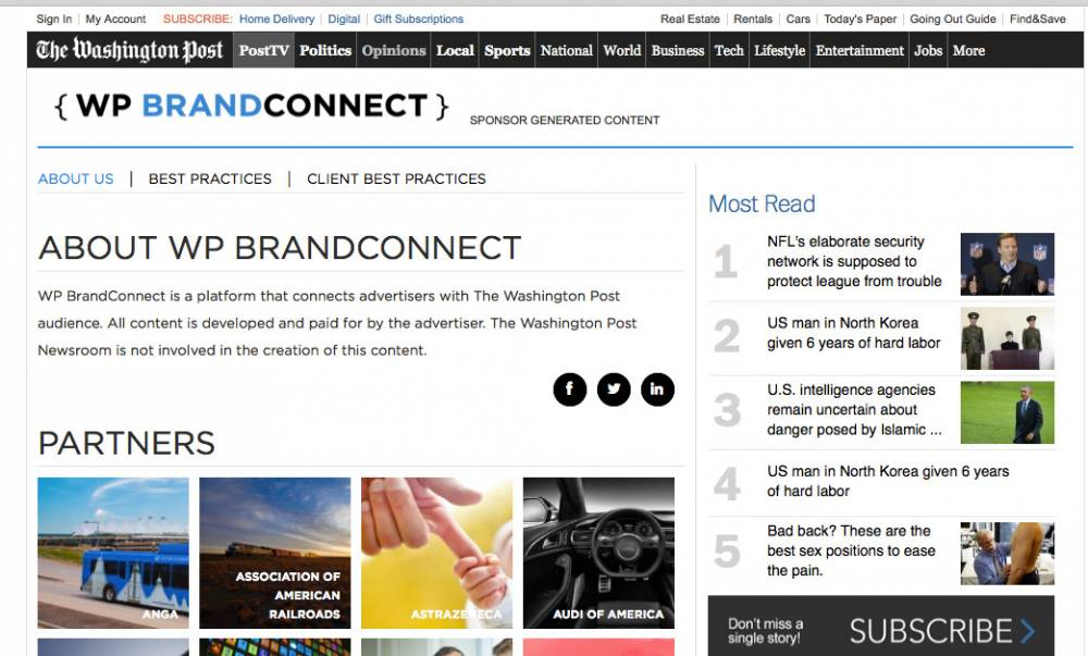 A typical BrandConnect campaign is about $50,000. The BrandConnect page includes information about the program.
