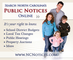 Search NC Public Notices Online - digital ad (300 x 250) NCNOTICES.COM