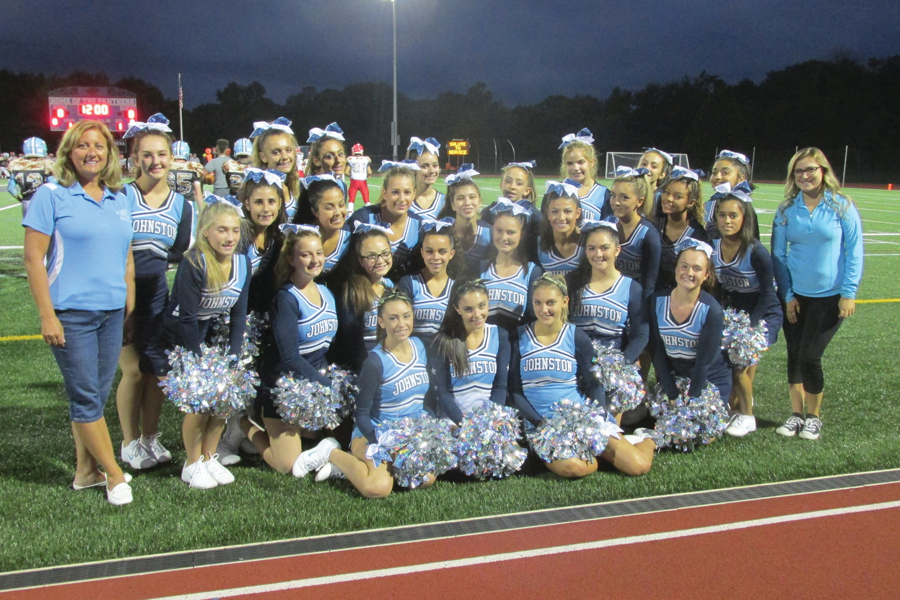 "PARILLO'S PACK: Johnston High's cheerleading corps helped make last Friday night's ""Salute to Service"" football game special with their impressive routines and spirit."