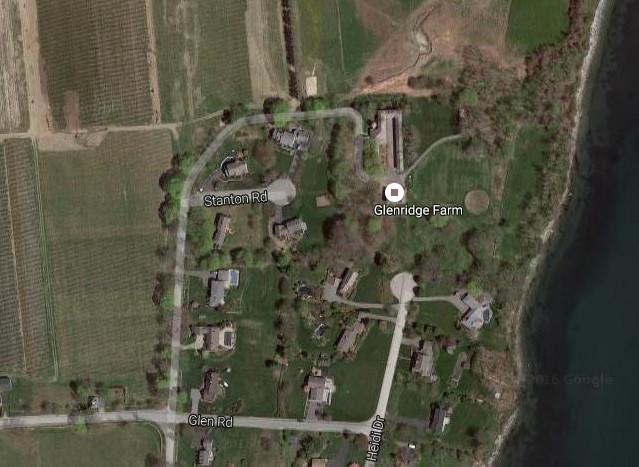 Google Map Image Shows Heidi Drive Glen Ridge Farm Property And Rhode Island Nurseries Land
