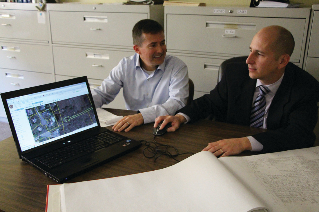 new city interactive mapping system to bolster accessibility now you can it dan geagan of the planning department and city assessor christopher
