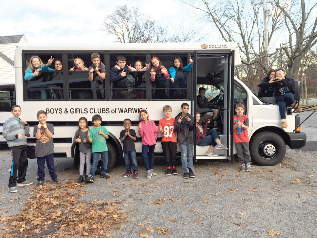SAVING THE DAY: A Champlin grant has enabled the Warwick Boys and Girls Clubs to pay for its new bus after the old one broke down.