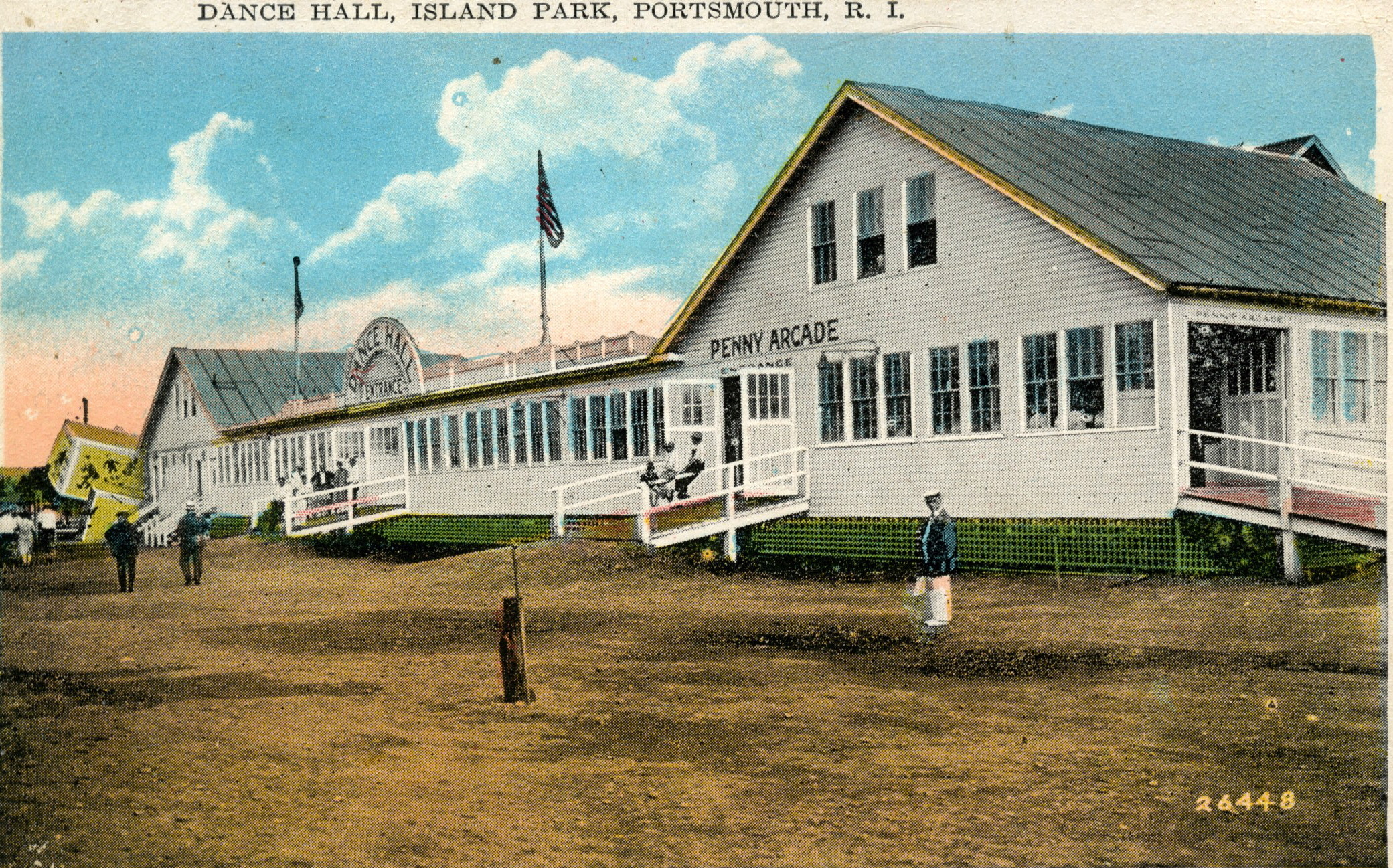This Colorized Postcard Of The Island Park Amusement Parks Dance Hall Is From Jim Garmans Collection