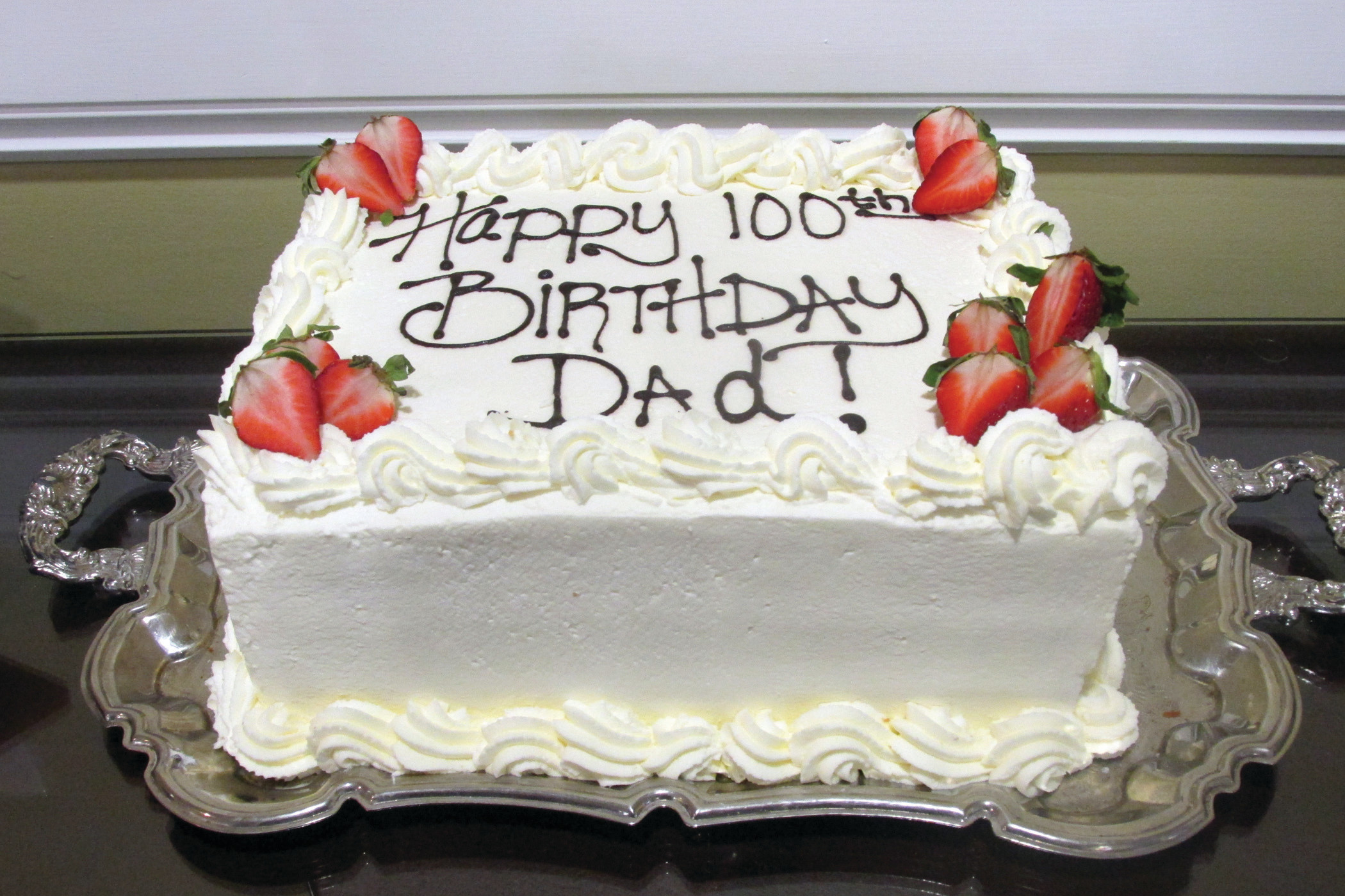 CENTENARIAN CAKE This Was The Classic Cake That Mario Jim Maccarones Family Enjoyed