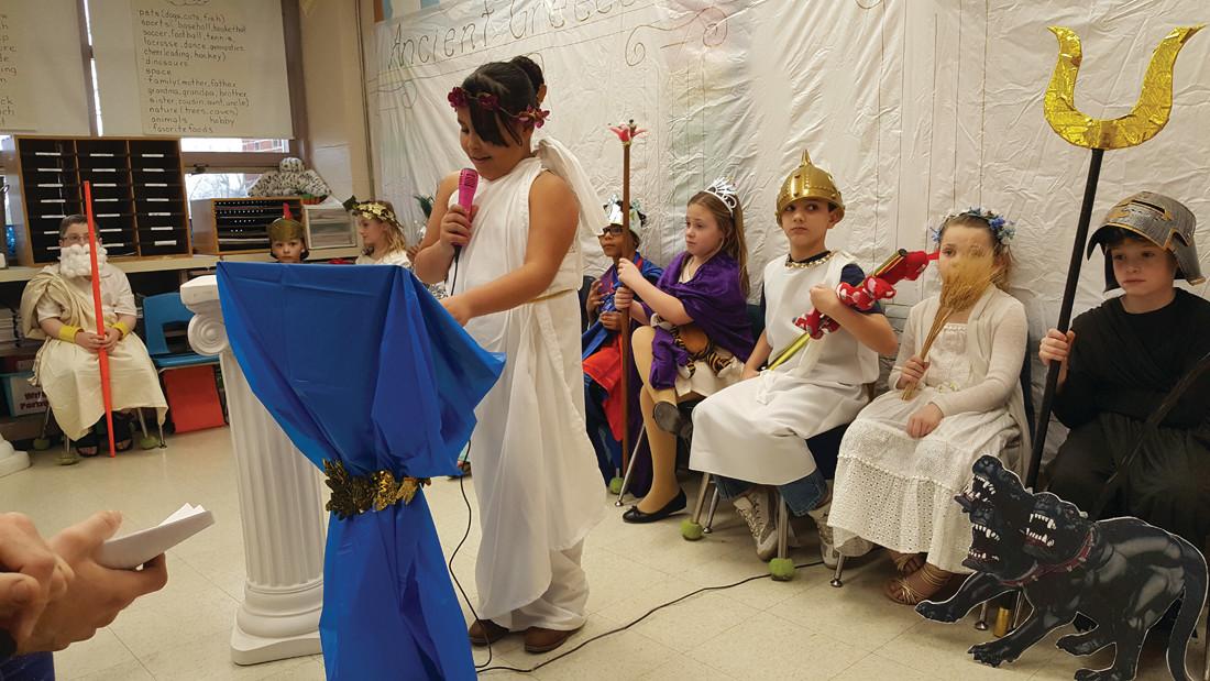 Barnes students celebrate Greek gods and goddesses | RhodyBeat