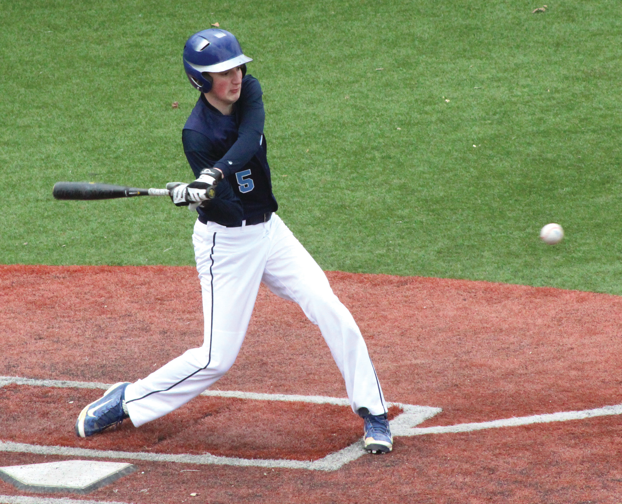 AT THE PLATE: Dylan Lavoie registered a single and a walk in Johnston's 5-0 loss at La Salle.