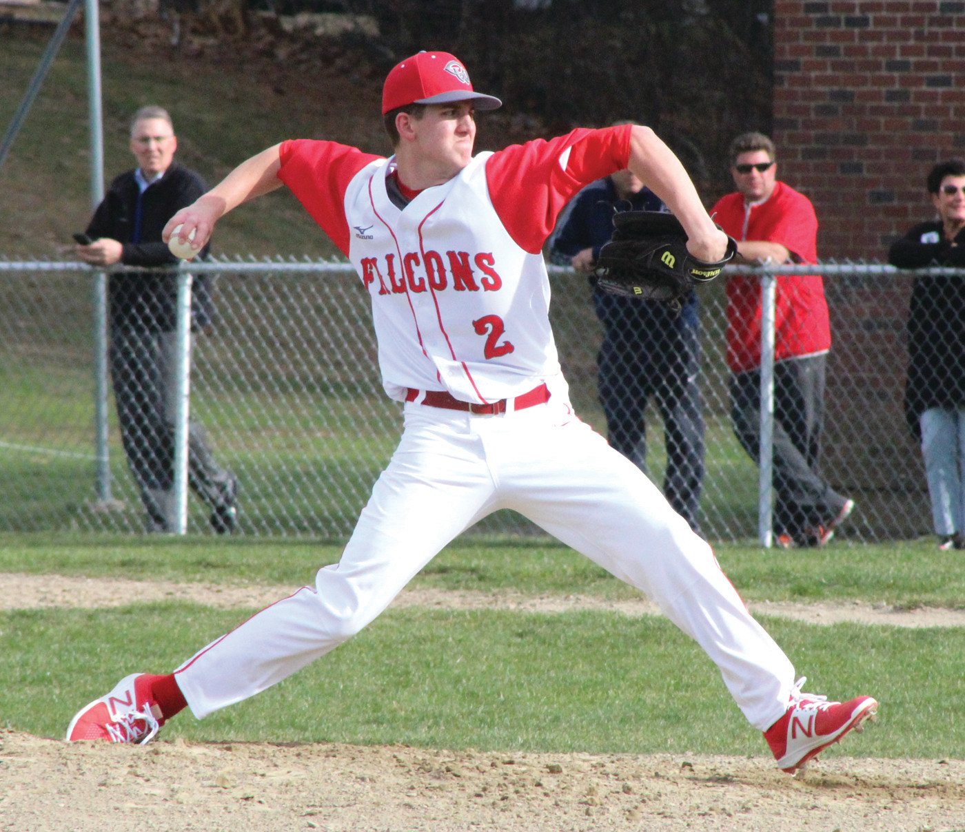 STRONG START: Brett Traficante yielded just two runs over five innings against Hendricken.