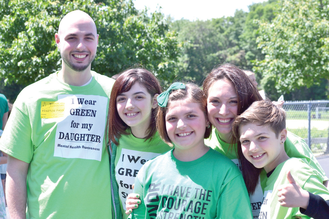 UNITED FAMILY: Jack, Alyssa, Gabby, Nikki and Benjamin Pascale are on a mission to raise awareness of mental health issues and to support Gabby's efforts in living a better life with bipolar disorder.