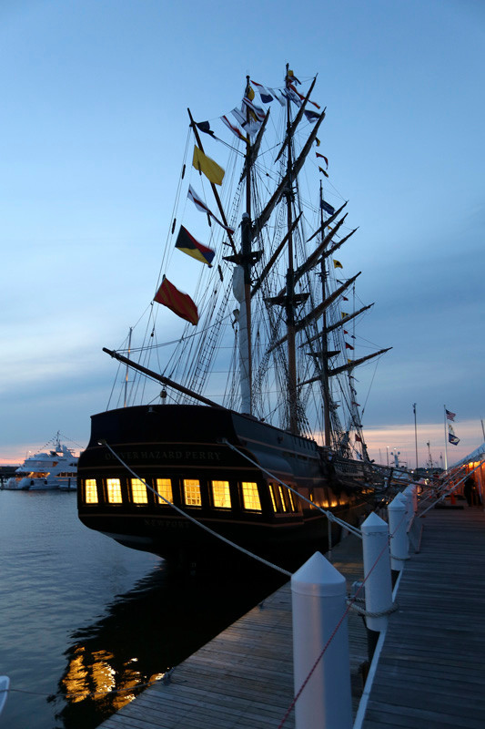 SSV Oliver Hazard Perry at sunset