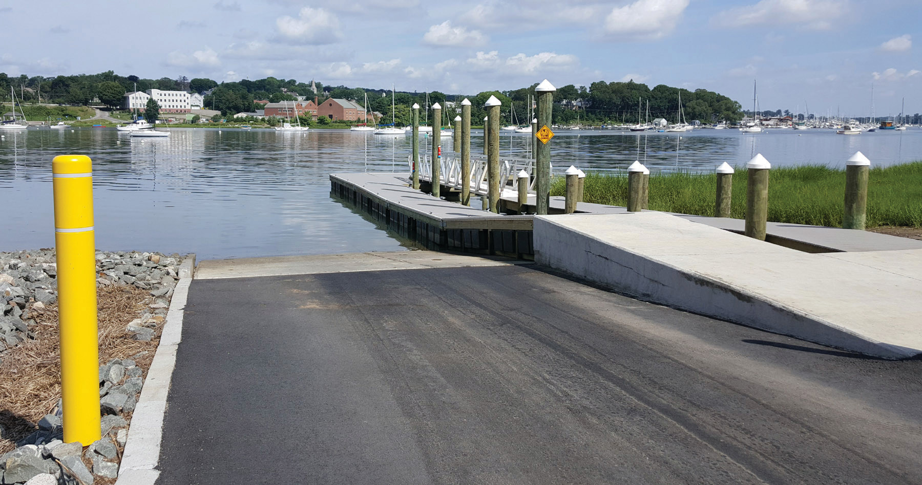 GODDARD BOAT RAMP: The new Goddard Park boat ramp is fully-accessible and features a new deeper water launch site. (Submitted photo)