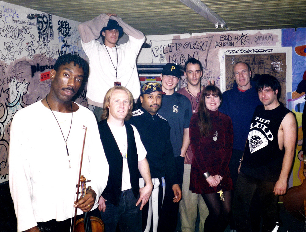 Dave Matthews Band with Rich Lupo (second from right) at the second Lupo's in January 1995. It was the first of two sold-out nights soon after DMB became a national hit