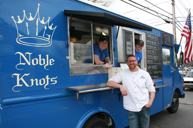 Brian Buongiovanni of Brickyard Wine & Spirits; Noble Knots food truck