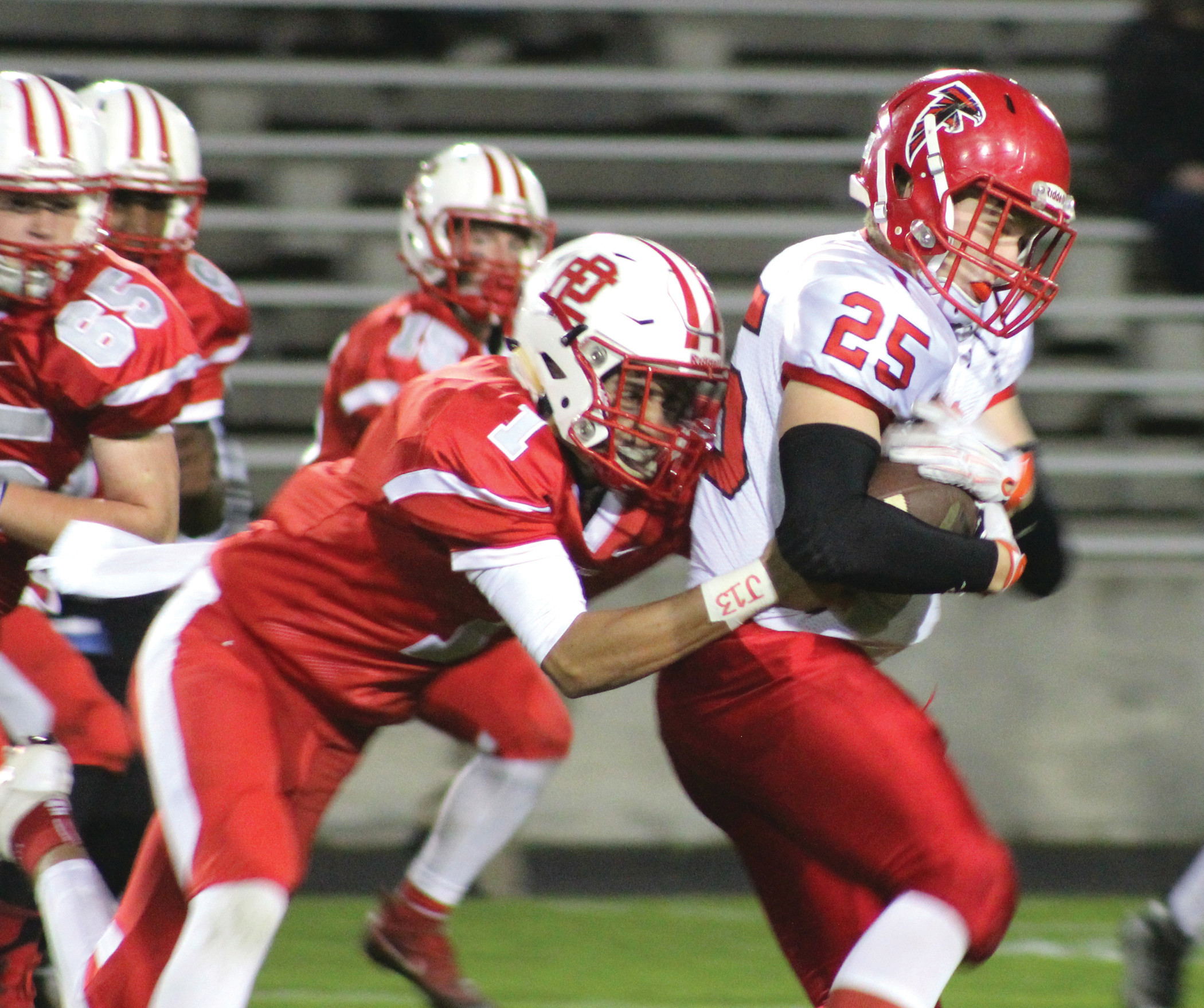 TOUGH TO TACKLE: Will Such will be a key player for Cranston West on both sides of the ball this season.