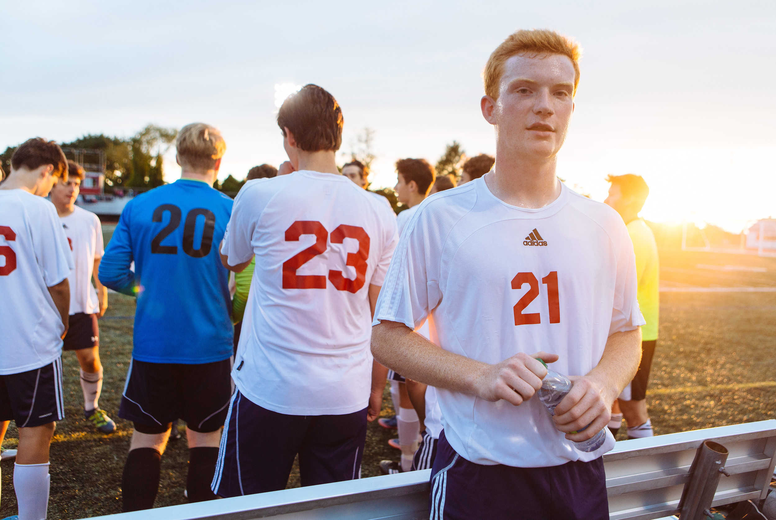 John Stack organized the alumni soccer game for his senior project at Portsmouth High School.