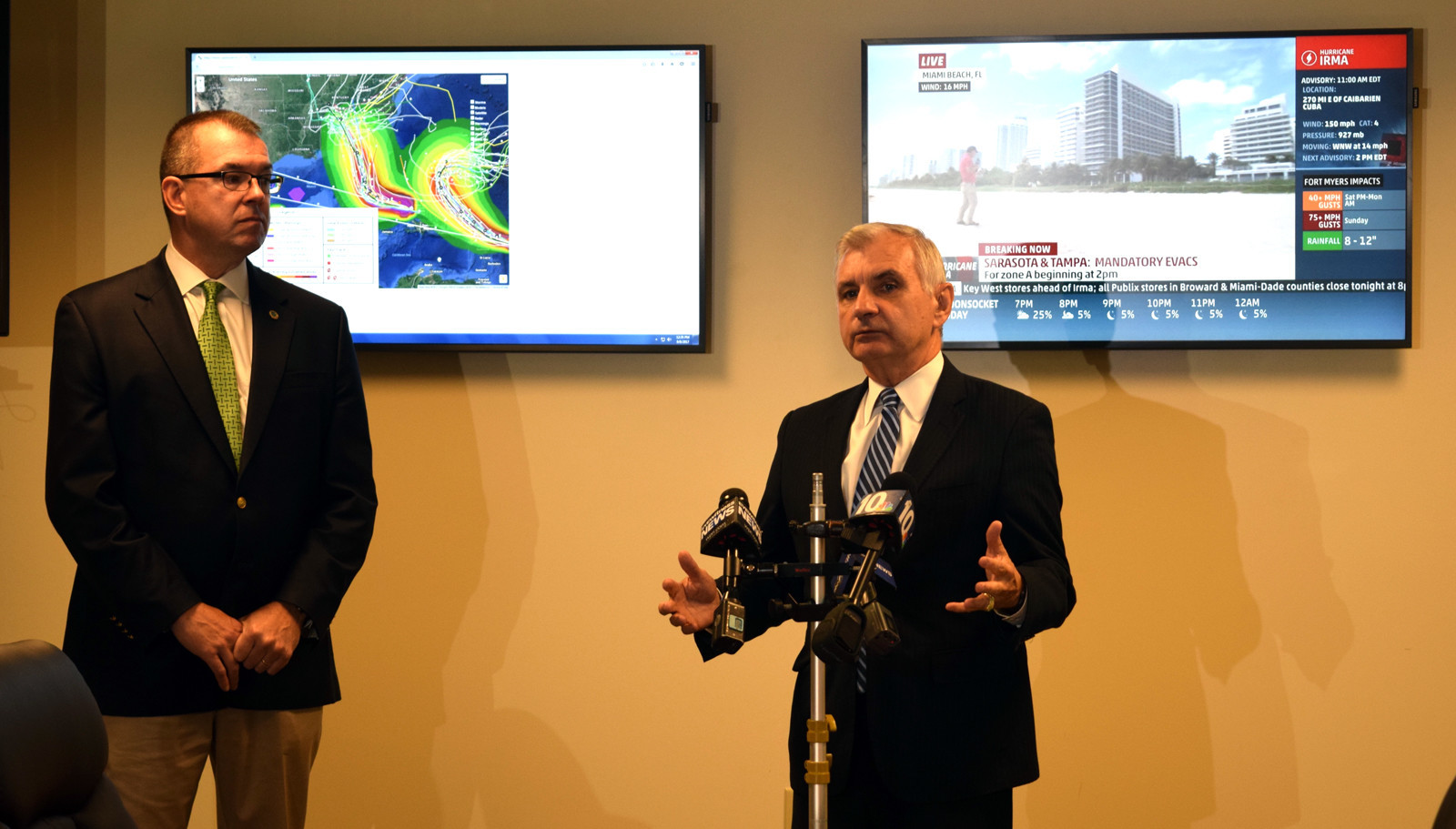 Sen. Jack Reed gave his preliminary remarks before taking questions from the press on Friday.