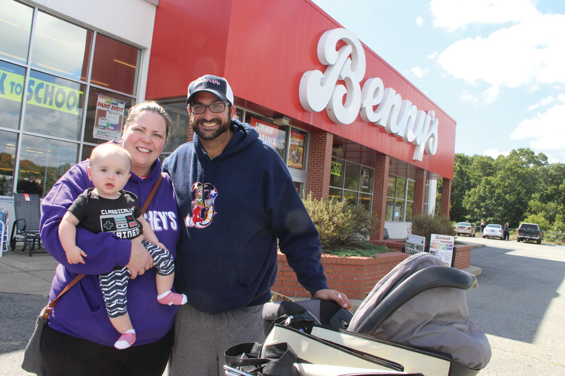 Sarah Rawnesley, Chris Mirmirani and their son, Renton, were among the many shoppers Saturday at the West Shore Road Benny's. When they heard Benny's would be closing they knew they had to visit the store.