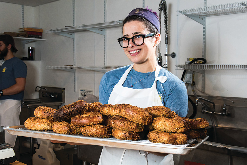 Milena Pagan, owner of Rebelle Artisan Bagels