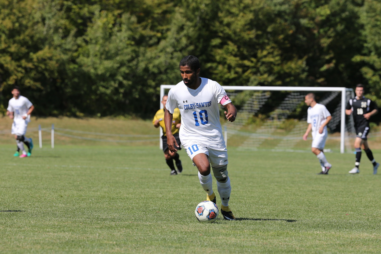 Colby-Sawyer senior and Barrington High School graduate Denali Sexton recently earned his second consecutive North Atlantic Conference (NAC) Men's Soccer Player of the Year award.