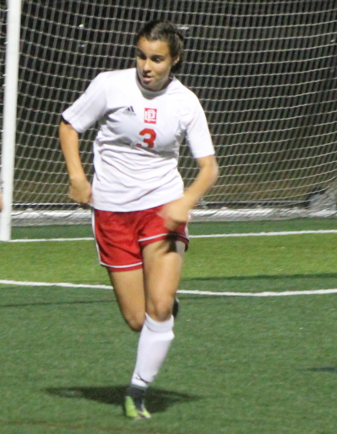 Alyssa DeOliveira netted a hat-trick for the Townies in their semifinal win over Narragansett.