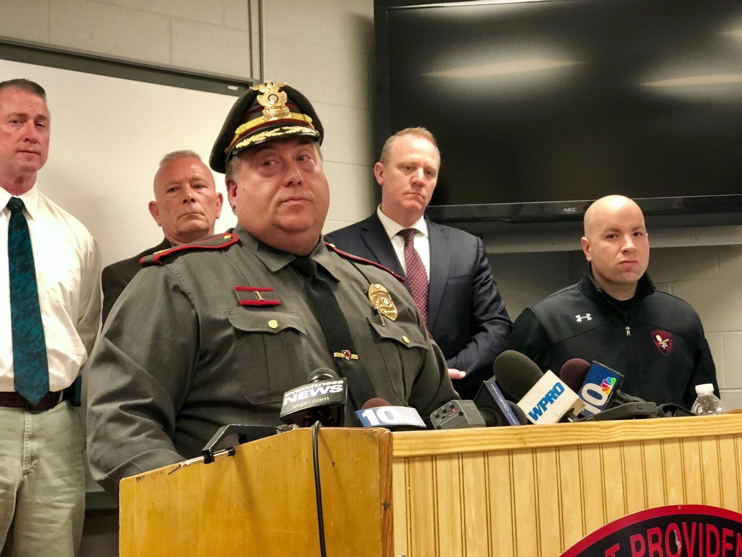 On Tuesday afternoon, East Providence Police Chief Christopher Parella said authorities are confident Mr. Morris is responsible for the death of Dr. Clive Bridgham.
