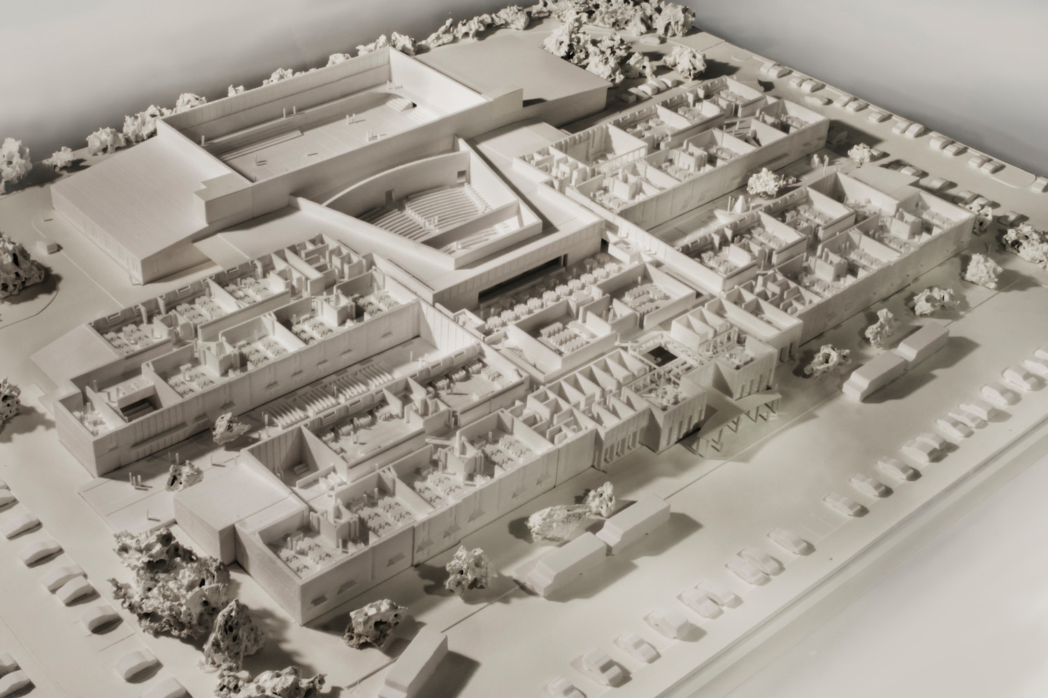A model of the proposed grade 5-12 school to be built on the site of the contaminated Westport Middle School