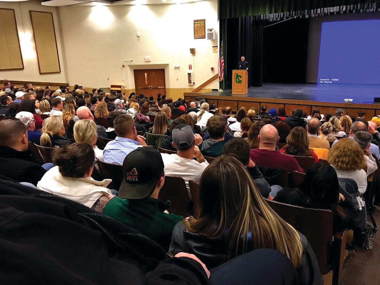 FULL HOUSE: Students and other members of the community filled Cranston High School East's auditorium for Chris Herren's presentation last week.