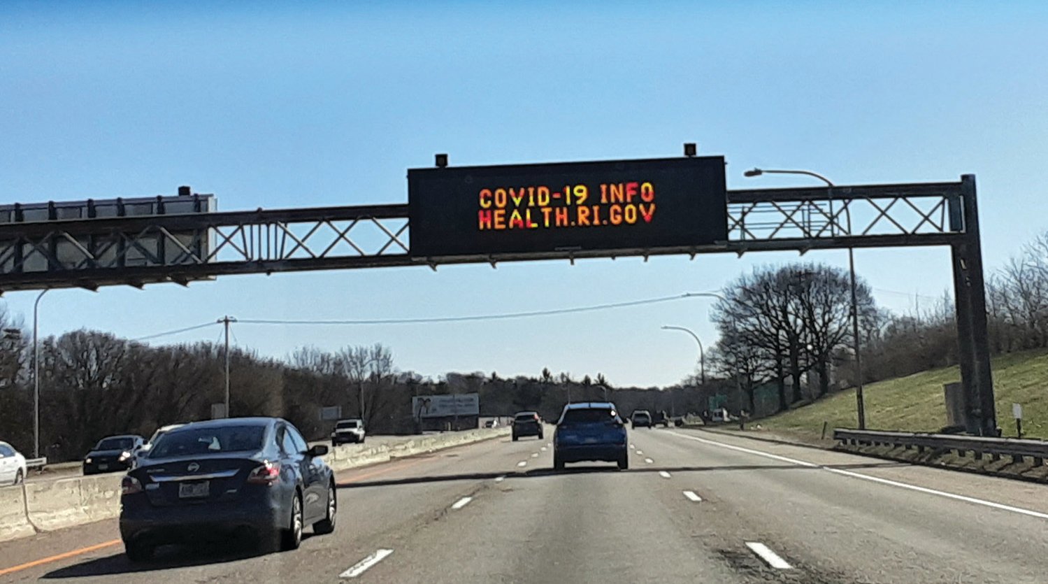 SIGN OF THE TIMES: An I-95 billboard advising of COVID-19 information caught Jen Cowart by surprise as the family traveled to move one of their daughters out of college on Sunday.