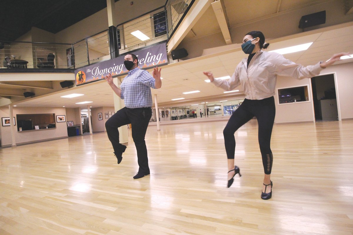 IN SYNC: Noah Carsten and Bianca Matarese, who had spent hours rehearsing for the show planned for April, quickly picked up from where they left off.