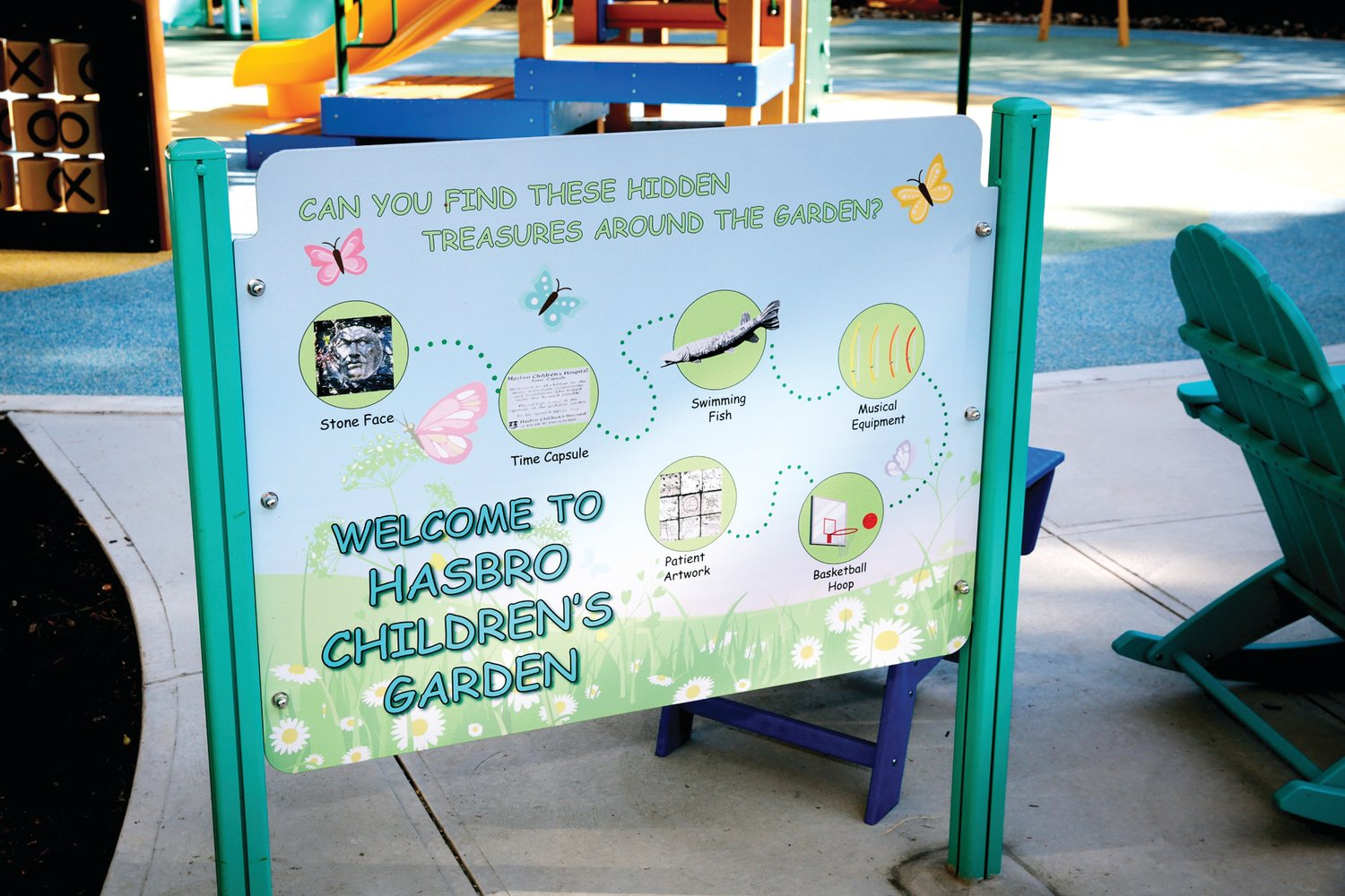 FOR FAMILIES: The new Balise Healing Garden at Hasbro Children's features a fun scavenger hunt for patients and families to enjoy when spending time outdoors during their hospital stay.