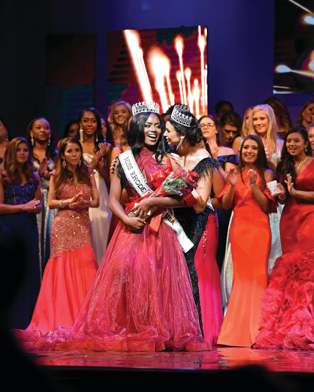 Jonét Nichelle after being crowned Miss Rhode Island USA.