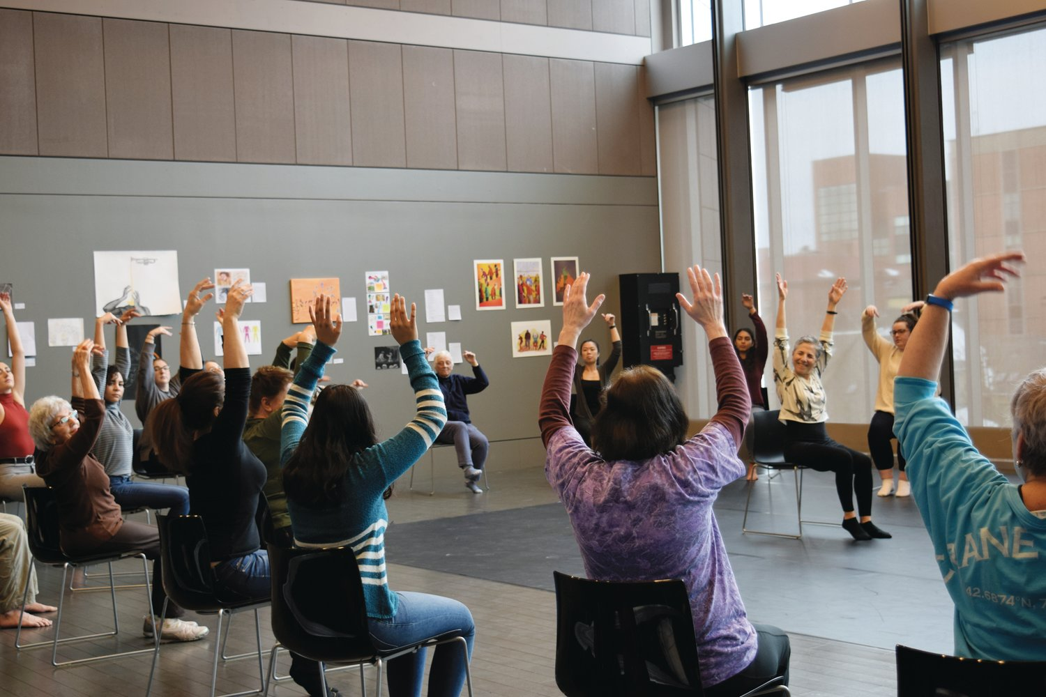 DANCE FOR MOVEMENT IMPAIRED: Here, attendees at the 2019 Brain Week Rhode Island take an interactive class to learn about the benefits of dance and movement on the brain.