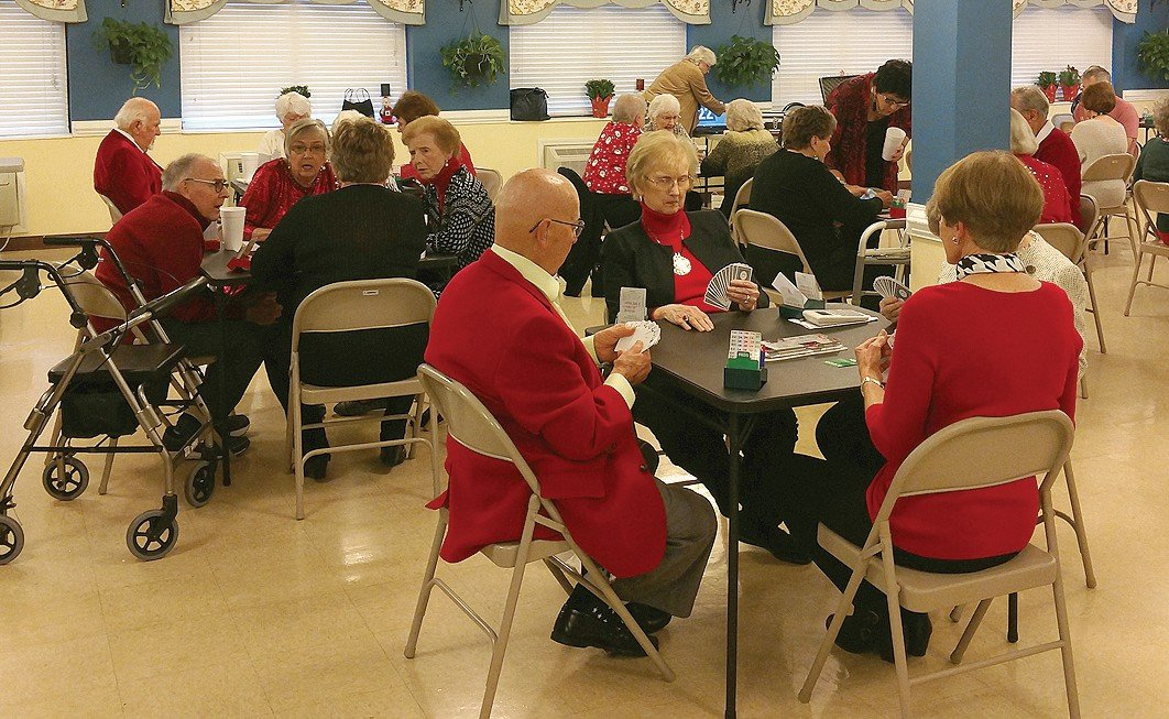 Members of the ACBL played a few hands of bridge at their Christmas party. submitted