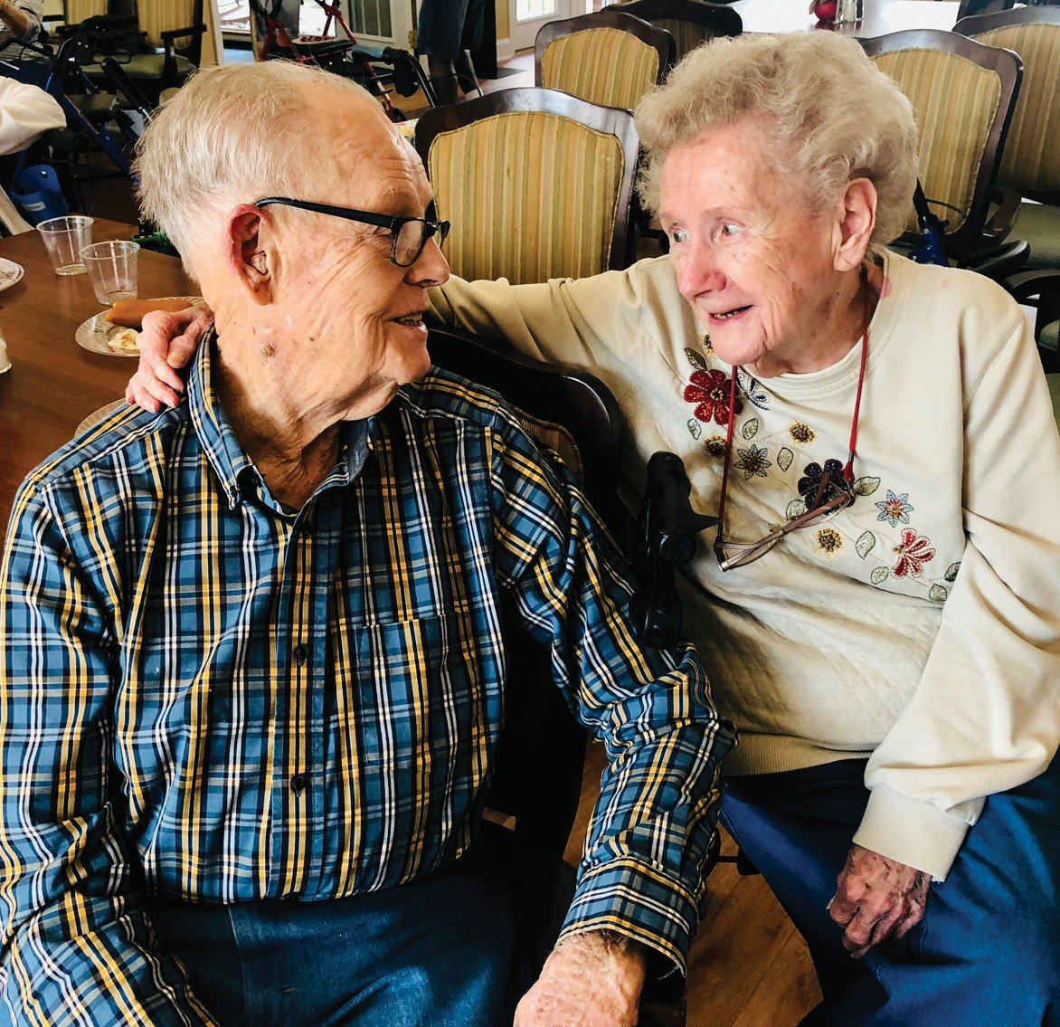 Rainey and Pauline Hester celebrated their 75th wedding anniversary last month. sUBMITED