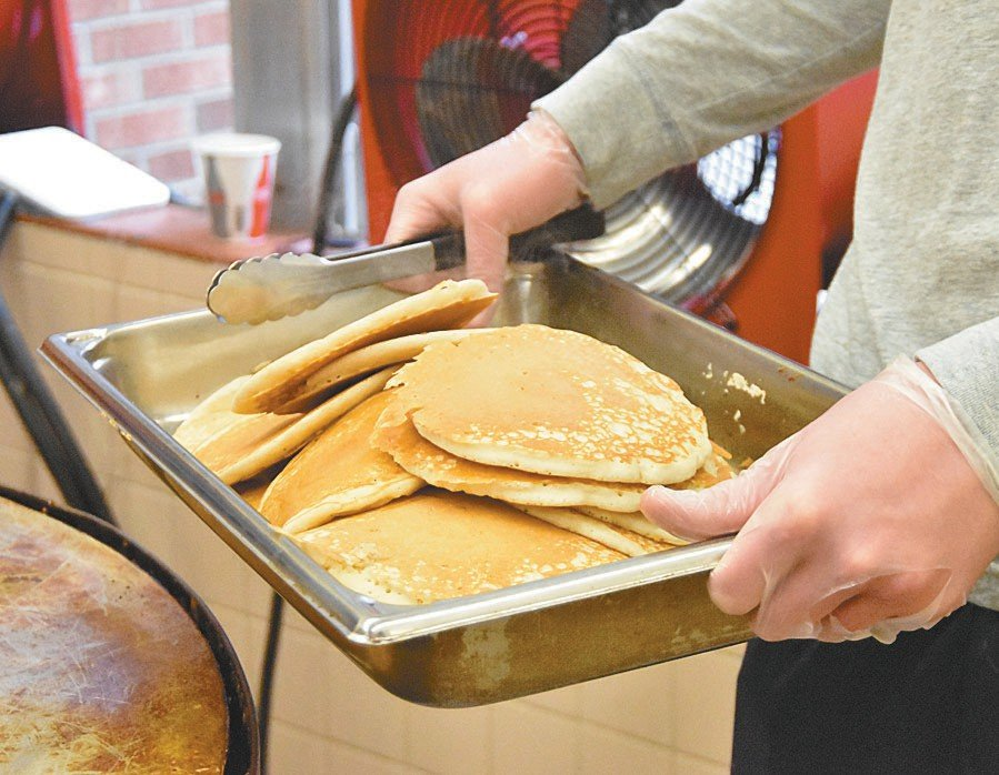 Fresh pancakes were the order of the day at Person High School on Saturday.