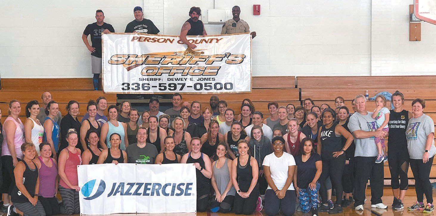 Participants posed for a post workout photo. PHOTOS SUBMITTED