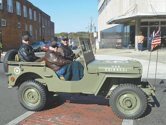 For some of the veterans in Saturday's parade, the transportation may have looked all too real.