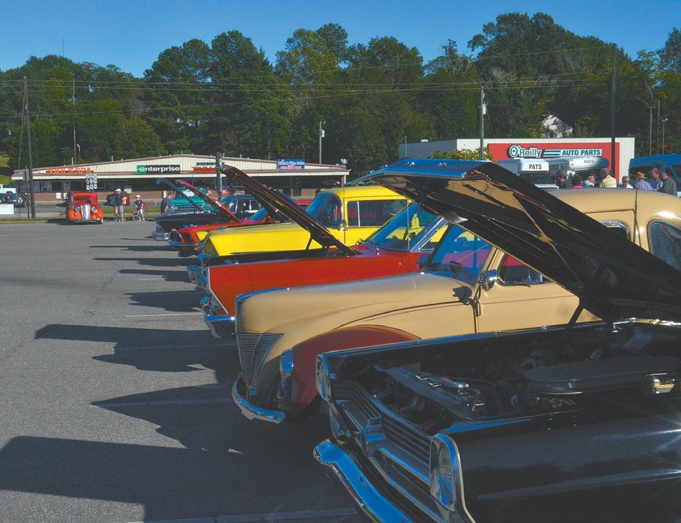Cars lined the parking lot in front of the Person County Department of Social Services Saturday afternoon.
