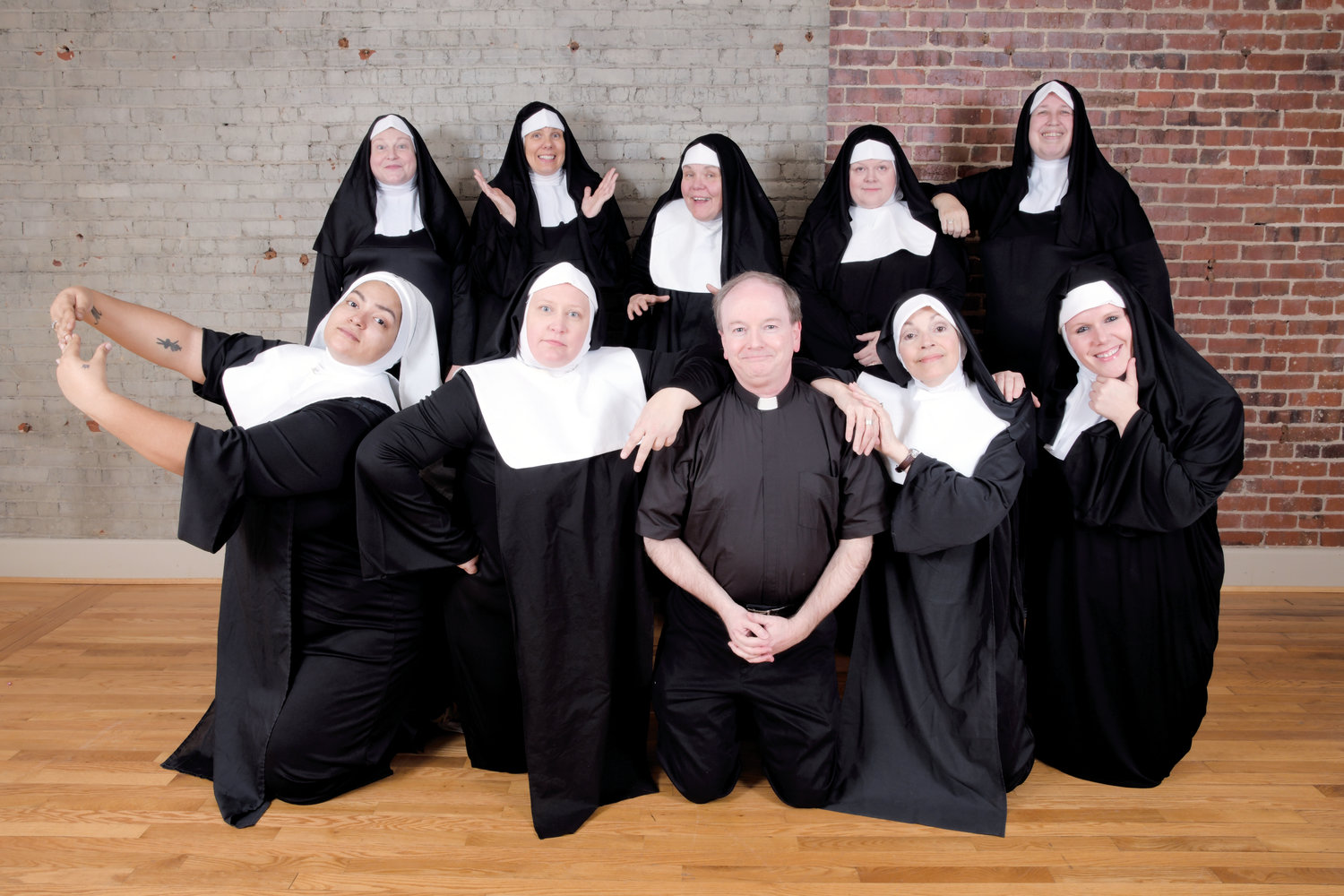 The cast of Nunsense is ready to deliver a side-splitting performance at the Kirby Theater Feb. 15-17.