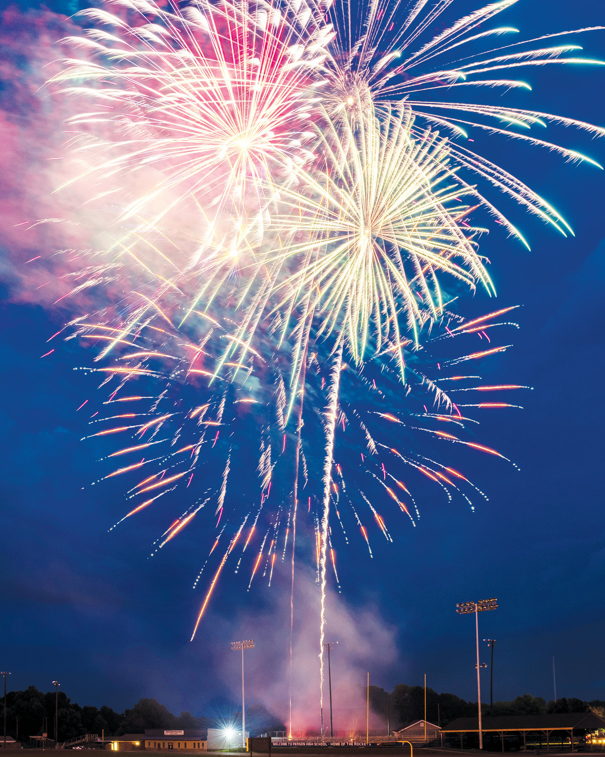 Fireworks lit the sky over Rocket Stadium Thursday night to put a cap on Person County's Independence Day celebrations.