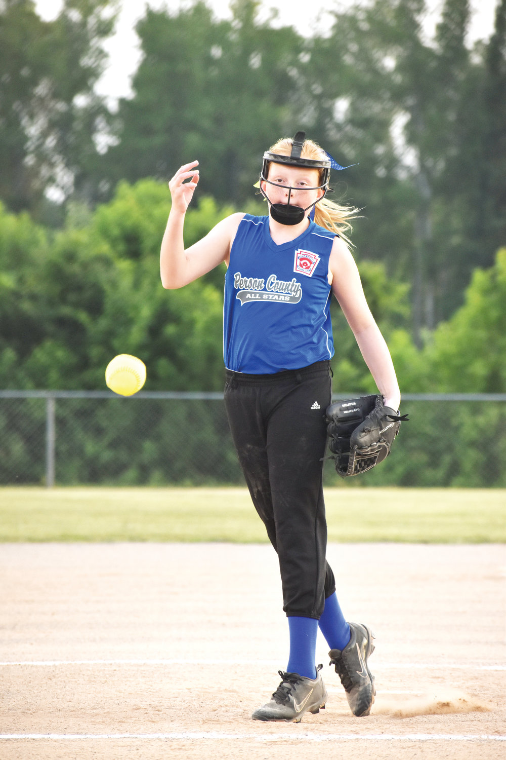 Kelly Snow | The Courier-Times.Person County 10U All-Stars pitcher Macey Bowes picked up the win against Northwest Forsyth Monday.