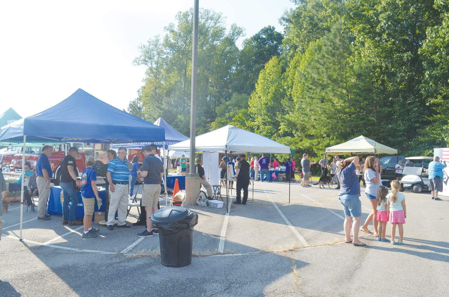 Crowds gathered at National Night Out Tuesday.