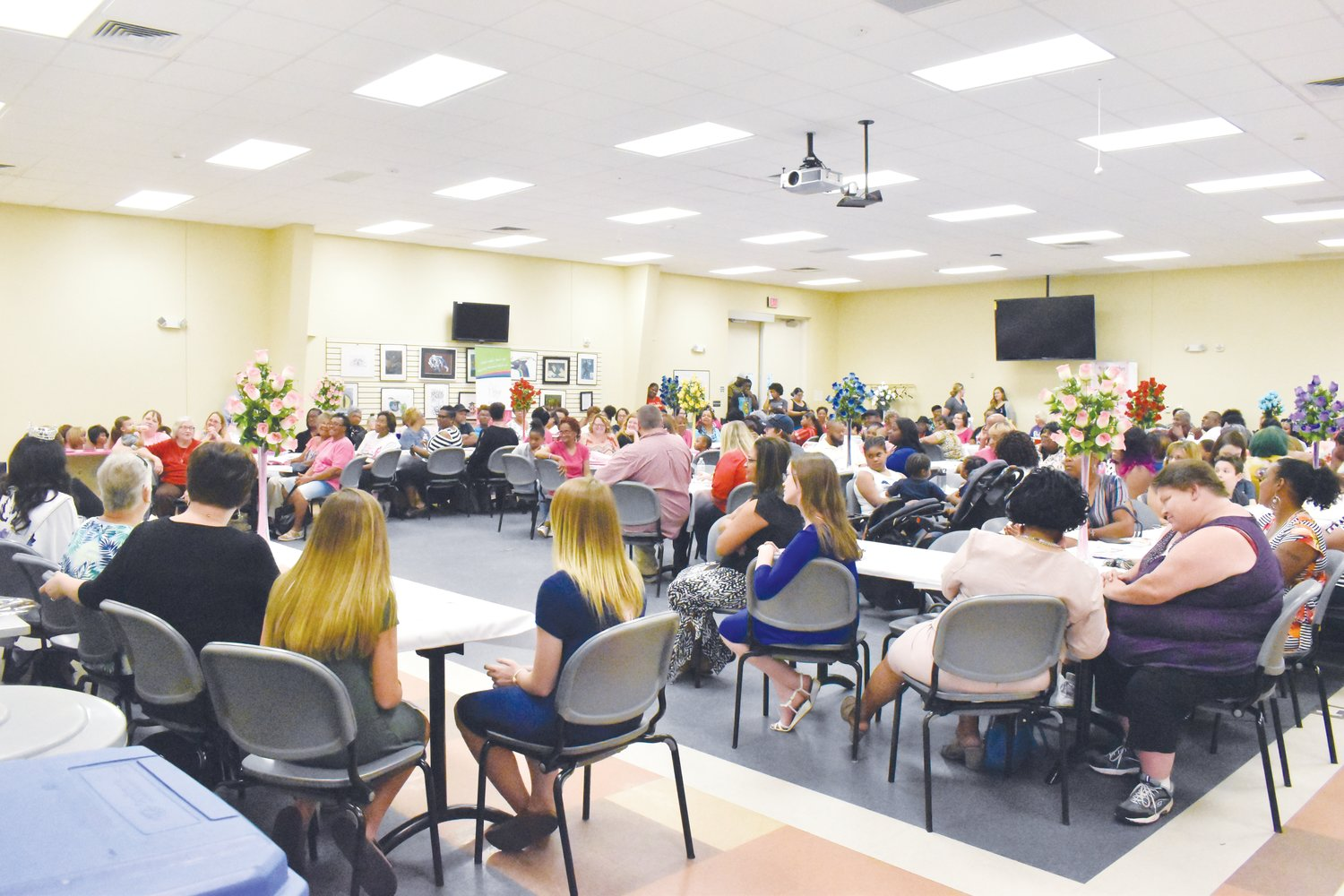 A large crowd filled a meeting room on the PCC campus last Thursday to take part in a cancer awareness event that was emceed by the reigning Miss North Carolina Alexandra Badgett.