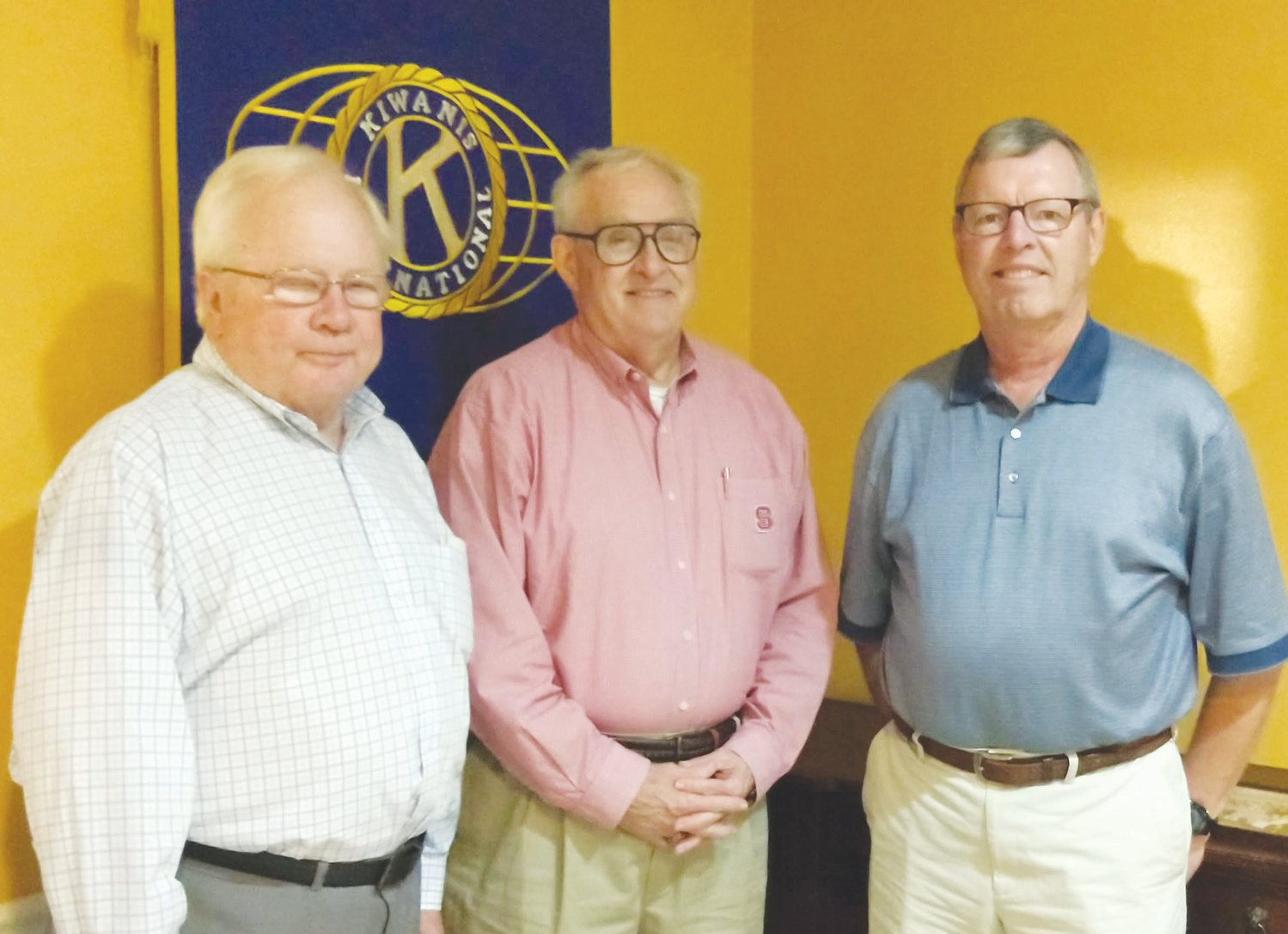 Guests of the Roxboro Kiwanis Club at the club's Oct. 14 meeting included, from left, Raleigh Kiwanis Club members Phil Kirk, Scott Grantham and Martin Vernon.