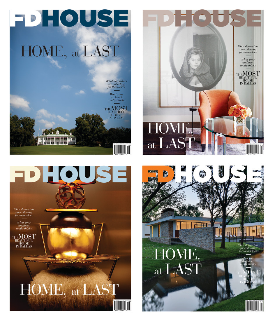 View cover mockups of FD House.  These are not final, but demonstrate the mood of the magazine, as well as photography. FD House will launch in March 2015.