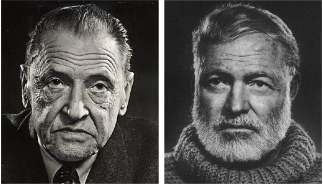 W. Somerset Maugham and Ernest Hemingway