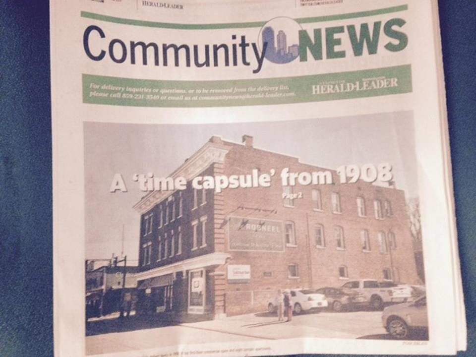 Community News is a weekly free publication distributed in Central Kentucky.
