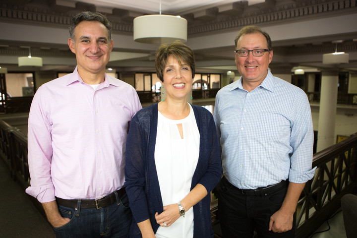Left to right: Matt Coen, Second Street co-founder; Ruth Presslaff, Presslaff Interactive Revenue co-founder; and Doug Villhard, Second Street co-founder.
